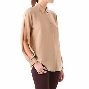 EQUIPMENT Parker split sleeve silk blouse trendy